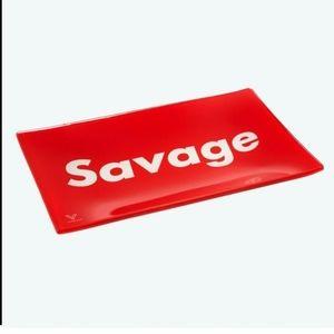 NIB Syndicate premium glass rolling tray Savage